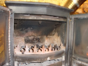 Stove Before Re-Furbishment. Serious Goo Problems!