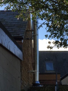 Mid-section of twin wall chimney system