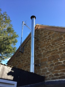 top of twin wall chimney system